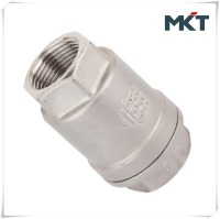 China Supplier Stainless Steel Female Thread Lift DIN Screwed 2PC Vertical Spring Check Valve PN40