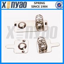 Nickel plated spring contacts to pcb
