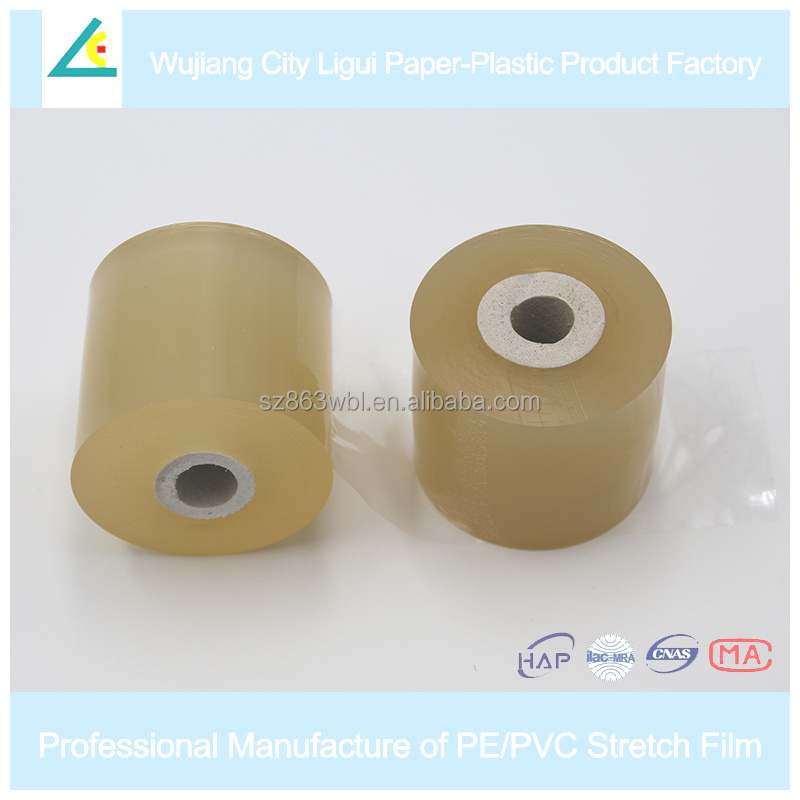 LG62 Yellow transparent wrap clear pvc stretch wrapping film