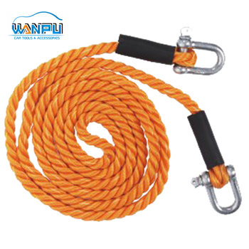 Custom heavy duty Universal emergency PE Stretch Tow rope