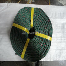 Baiyuan 38mm 3strand recycled pp material twisted plastic rope