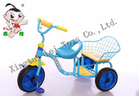 Popular children tricycle kids 3 colorful wheels pedal car 2 seats for twins/Baby Tricycle/Cheap Kid Tricycle bike