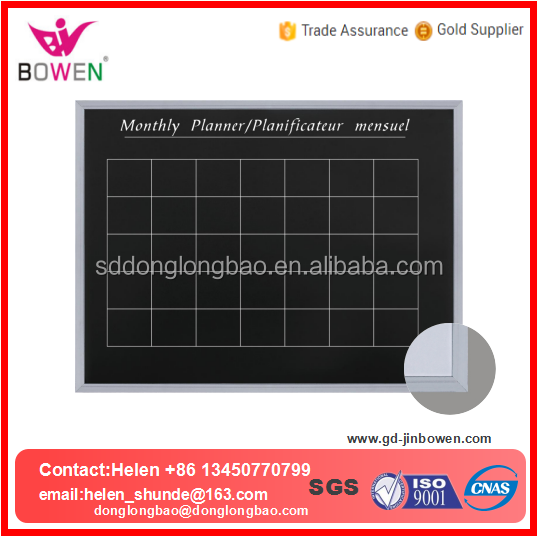 White board with aluminium frame various sizes writing magnetic whiteboard dry erase board chalk board BW-V7