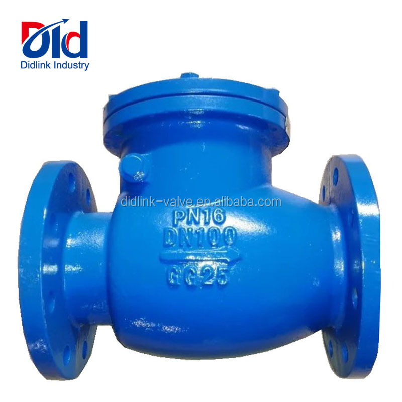 Cast Iron 150 800 Pornd Wafer Sewage DN100 16Ppa GG25 Flap Swing With Flanged Prices Sanitary Check Valve
