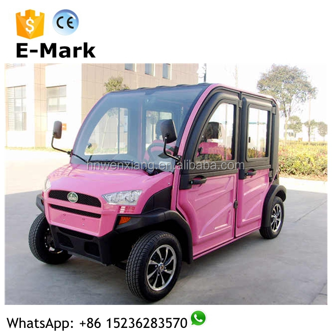 Mini electric 4 passenger renting cars with 45km/h made in china