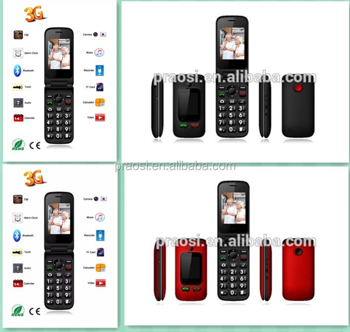 slim and small mobile phones flip 3G s20 elder phone torch light camera