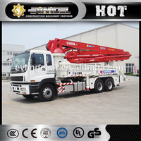 xcmg hbds80x18 0.8m3 132kw trailer mounted concrete mixer pump