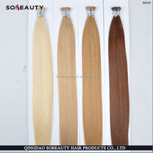 Top Quality Direct Factory Wholesale Virgin Russian Hair double drawn i tip hair extension 2g strand