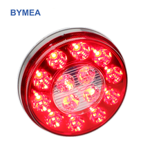 "14LEDs 4"" inches amber Round Vehicle Truck Trailer Led Tail Light,STOP/Turn/Reverse/Backup"