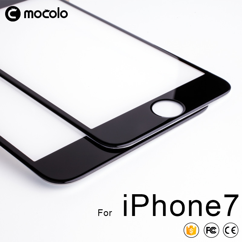 Mocolo Shenzhen Mobile Phone Accessories Factory Wholesale 3D 9H Tempered Glass Screen Protector For Iphone 7/7Plus