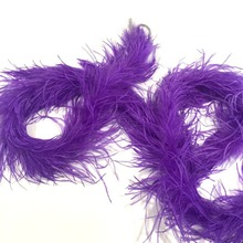Cheap sale high quality 2 ply Fluffy purple and curly Ostrich Feather Boas