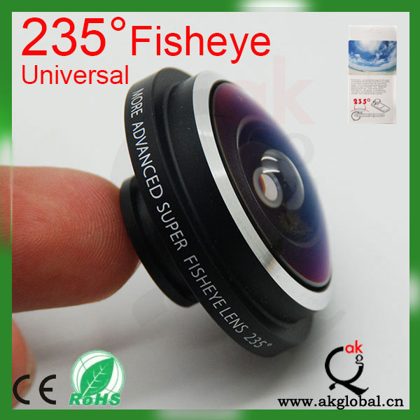 235 Degree Fisheye Lens for iPhone Mobile Phones Digital Camera Special Effect