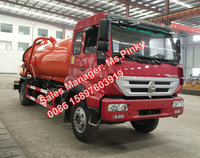 Sinotuck Gold Prince SDRC Sewage Sludge Truck Vacuum Tanker Truck 8000L Cheaper Price For Sales