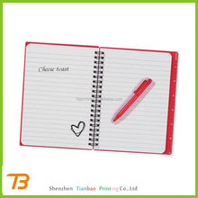 china alibaba wholesale recycled filler notebook with pen attached