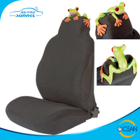 1pc Set Single Front Seat Frog Design Cute Car Seat Cover