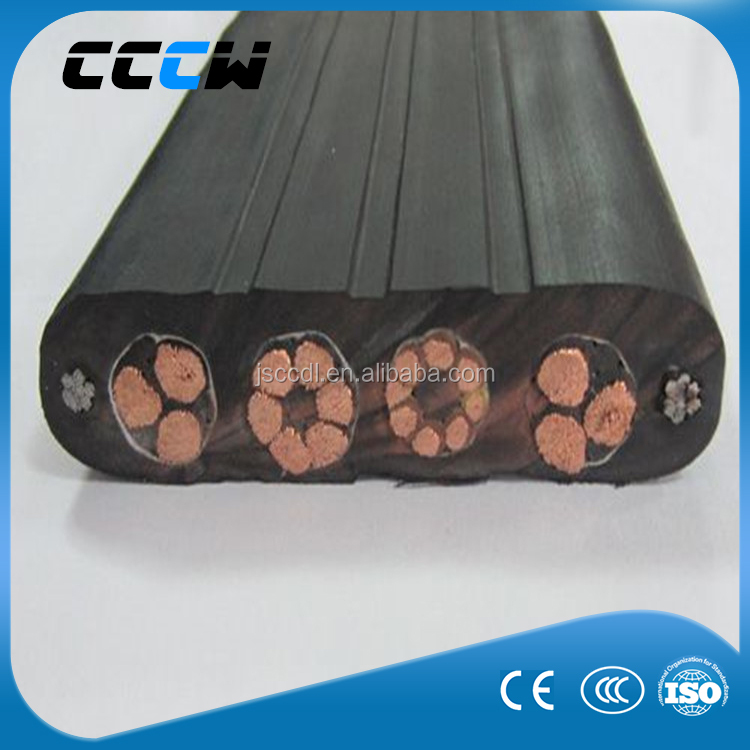Low temperature resistance flat rubber cable for elevator/lift
