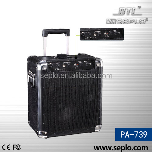 professional portable wireless amplifier PA-739/ mini pa system/amplifier audio splitter