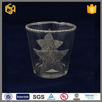 2015 New products clear mosaic candle holder decoration for home