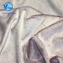 Warp Knit Fabric 100% Polyester Discharge Print Velboa Plush Fabric EF Micro Super Soft Velboa