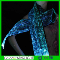 High quality fashion customized led luminous silk scarf dress blanks uk