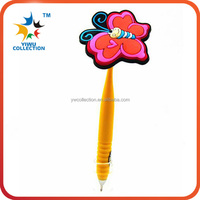 wholesale logo bright color pvc rubber magntic ball pen
