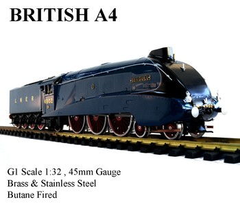 A4, 1:32 Live Steam Locomotive (Brass made)