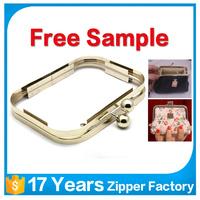 guangzhou wholesale customized handbag hardware accessories metal purse frame for bag