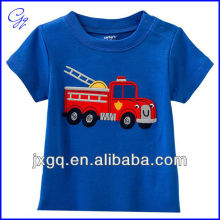 100% cotton wholesale custom fashion design new model bulk printing sport kids tshirt