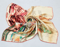 Ladies digital indian silk scarf