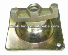 Pressed steel formwork slope plate with tie rod