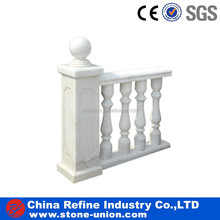 Railing white marble column and general post