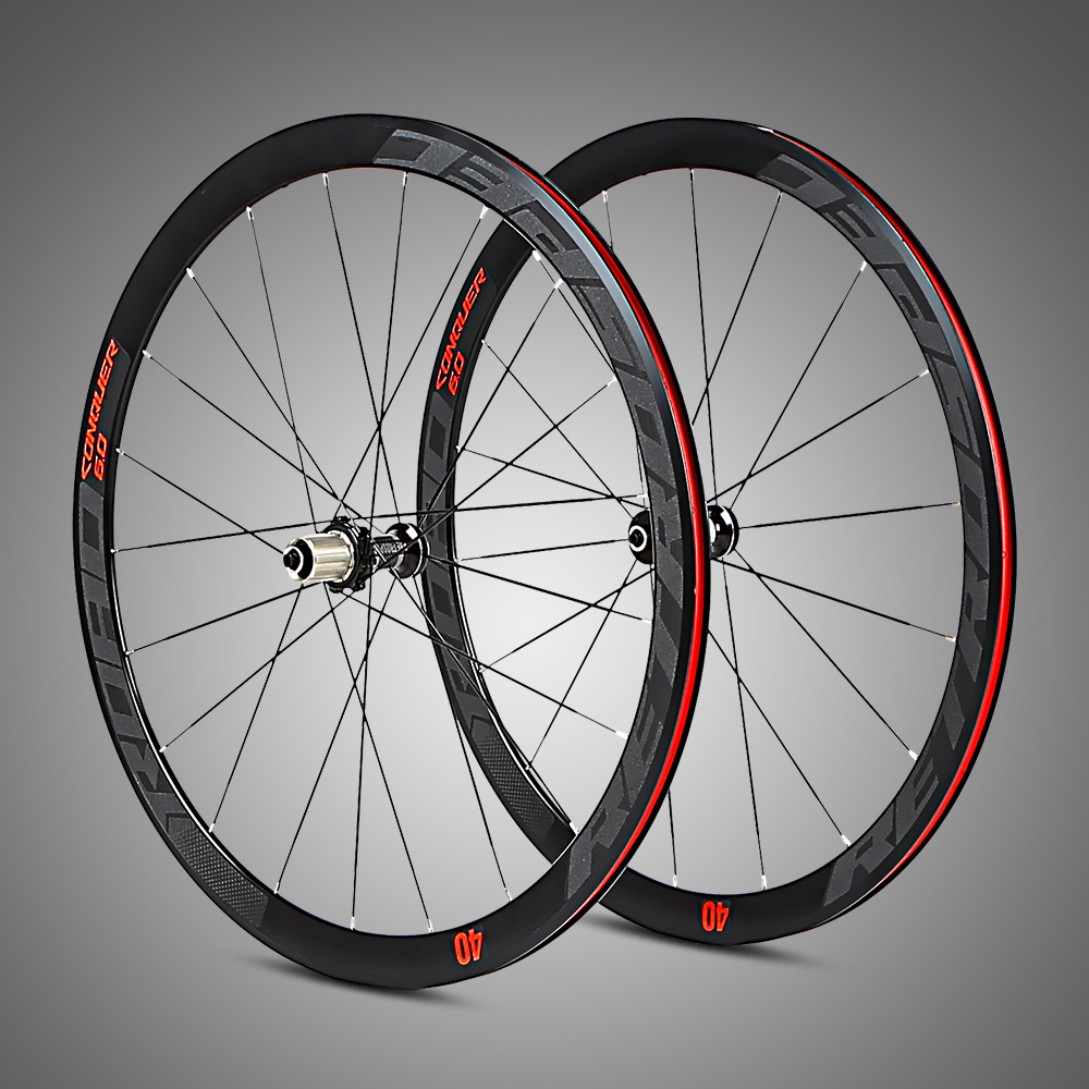 Hot sale 40mm height aluminum alloy road bike wheels in stock