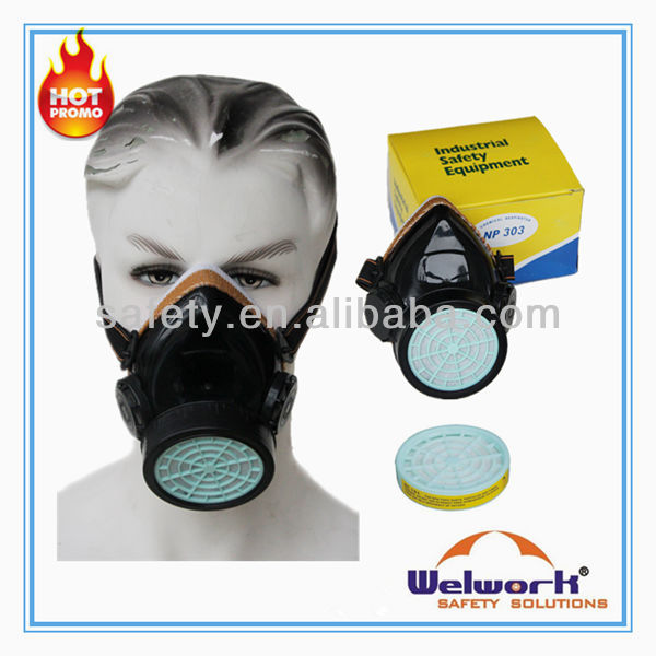 Single Or Double Filter Cartridge Dust Protective Chemical Safety Mask