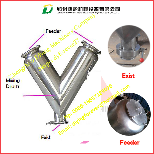 SS304 V type coffee powder mixer / Ground coffee mixing machine / Grinded coffee powder mixing machine