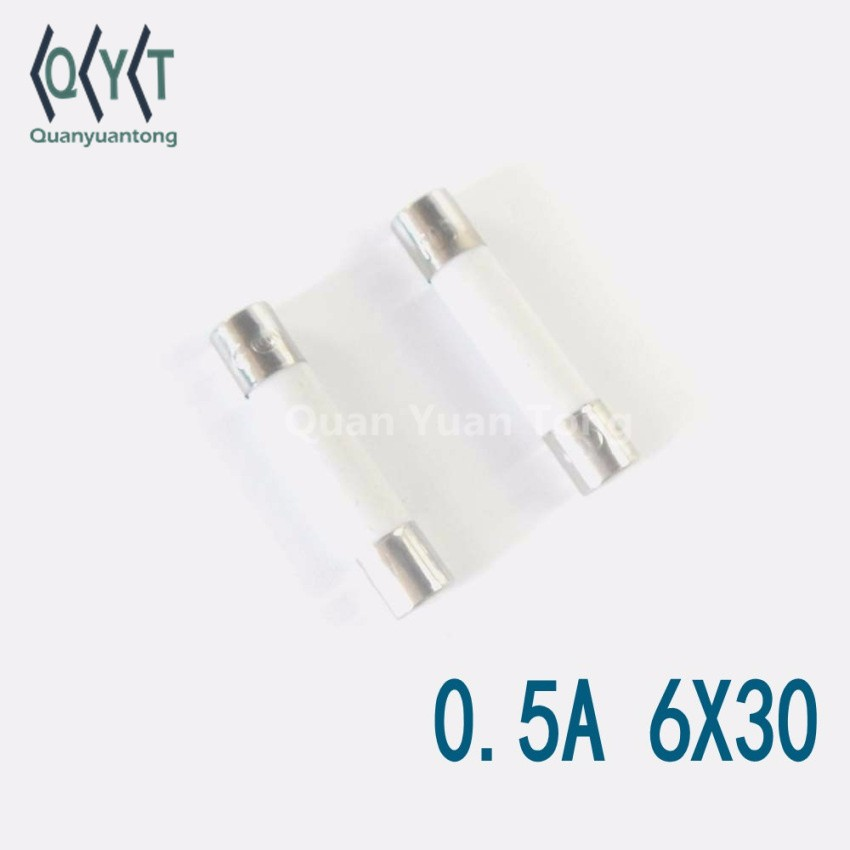 Electronic Components SMD Ceramic Fuse Tube 0.5A 6X30