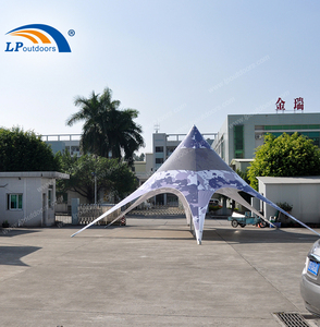 fireproof 1000D PVC fabric star canopy tent for car show