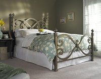 Ornamental modern hand-forged comfortable wrought iron bed