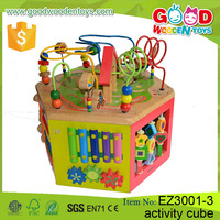 EN71&ASTM Qualified Wooden Beads Educational Baby Toys Funny Games for Kids