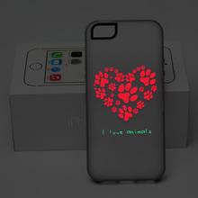 Fashion New Love Heart Hard Side Soft Skin Case Cover for Apple iPhone 5 5S Protector Glow at night