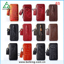 Strap PU Leather Back Mobile Phone Case For iPhone 6S, Leather Wallet Strap Case For iPhone6S