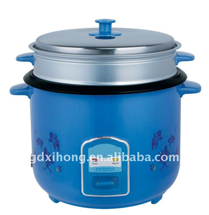 Blue Stainless steel straight body rice cooker