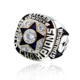Fashion rough natural gemstone jewelry men's brass dallas cowboy ring