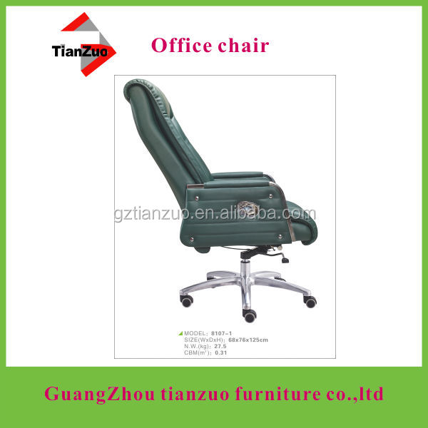 (office chair factory) 5 star steel base ergonomic office chair with chromed plate steel arm