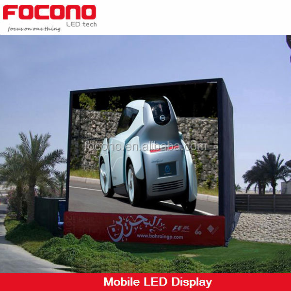 3mm 10mm trailer vehicle led display outdoor