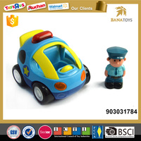 Mini car toy with light and sound for kids