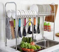 304 Stainless Steel Dish Drying Rack Over the Sink Drainer Dish Rack Ktichen Storage Organizer