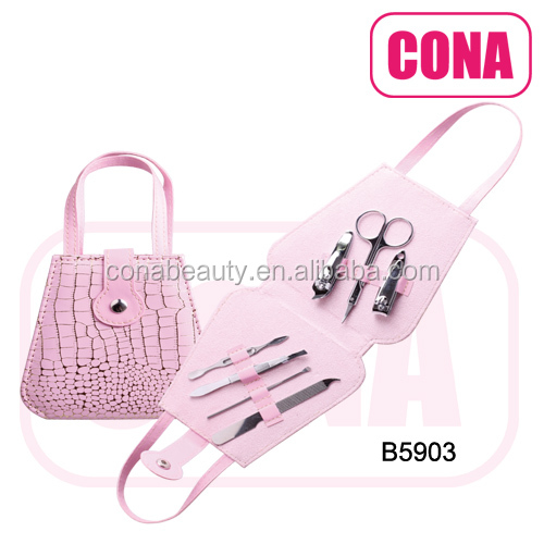 high quality 7pcs handbag manicure