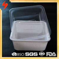 Square Disposable Food Grade Polypropylene Noodle Bowl