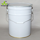 20L tapered metal chemical paint pail with lock ring lid ink tin bucket