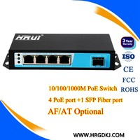 Highway surveillance system use DC 48V 5 port 10/100/1000m network switch